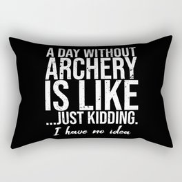 Archery funny sports gift idea Rectangular Pillow