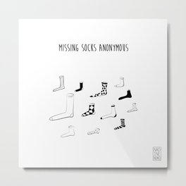 Missing Socks Anonymous Metal Print
