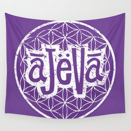 Ajeva Logo Purple Wall Tapestry