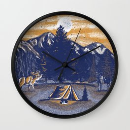 sleep outdoor Wall Clock