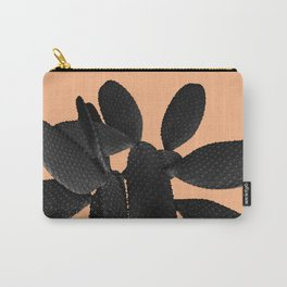 Black Pastel Orange Cacti Vibes #1 #plant #decor #art #society6 Carry-All Pouch