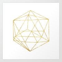 Geometry Gold Art Print