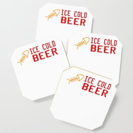 """""""Ice Cold Beer"""" tee design. Makes a nice and cute gift to your family and friends too! Grab it now!  Coaster"""