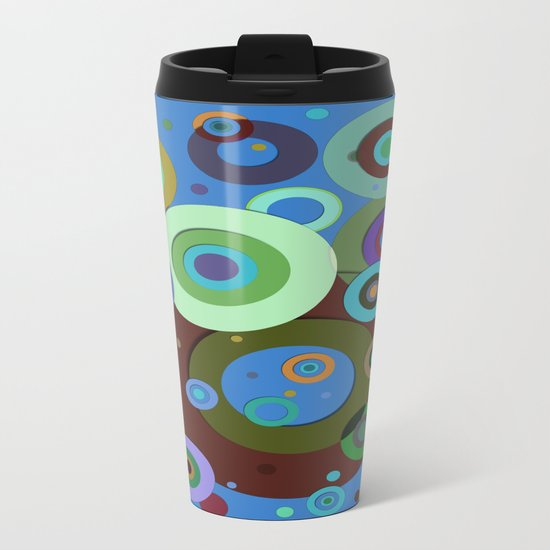 Op Art #9 Metal Travel Mug