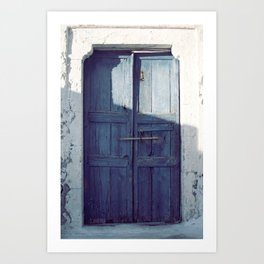 Santorini Door I Art Print