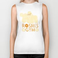gym Biker Tanks featuring roshi's gym by Louis Roskosch