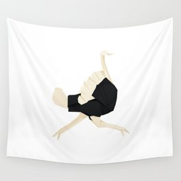 Origami Ostrich Wall Tapestry