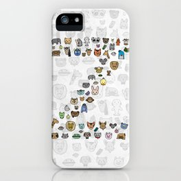 letter Z - zoological animals iPhone Case