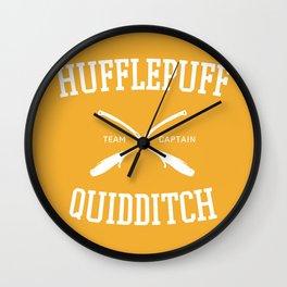 Hogwarts Quidditch Team: Hufflepuff Wall Clock