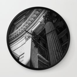 Black and White Pantheon Interior Architectural Photograph Wall Clock