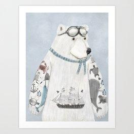 the arctic explorer Art Print