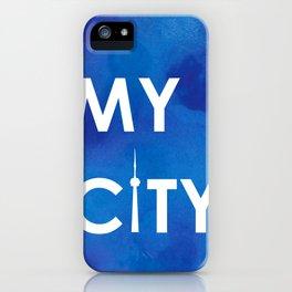 My City - Toronto - BlueA iPhone Case
