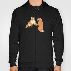 Fox family in the autumn forest Hoody