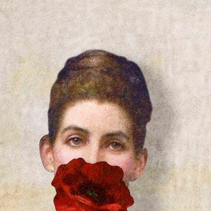 Girl with Red Poppy Flower Leggings