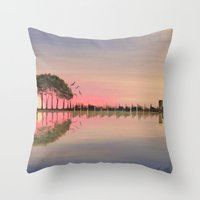 guitar Throw Pillows featuring Guitar by OLHADARCHUK