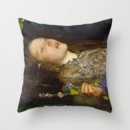OPHELIA - JOHN EVERETT MILLAIS Throw Pillow