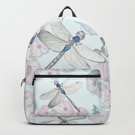 Dragonfly and Morning Glories Backpack