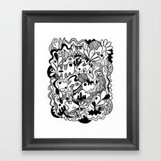 Weirdo doodle Framed Art Print