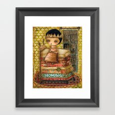 Sleepless Nights With The Princess And The Pea Framed Art Print