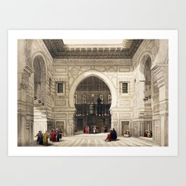 Mosque of The Sultan, Egypt (1846) Art Print
