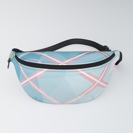 Abstract Triangulated XOX Design Fanny Pack