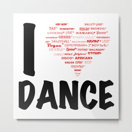 I Heart Dance (black) Metal Print