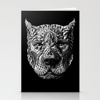 pitbull Stationery Cards featuring Pitbull by BIOWORKZ