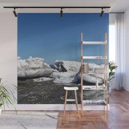 Icebergs and the big Dog Wall Mural