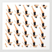 Sunbather Black Pattern Art Print