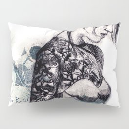Fashion illustration Flower Sisters 1 of 2 Pillow Sham