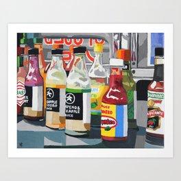 Food Truck Peppers Art Print