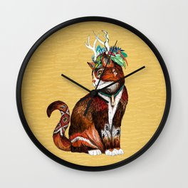 Wizard Cat Wall Clock