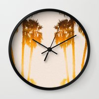 west coast Wall Clocks featuring WEST COAST by Jack Stobart