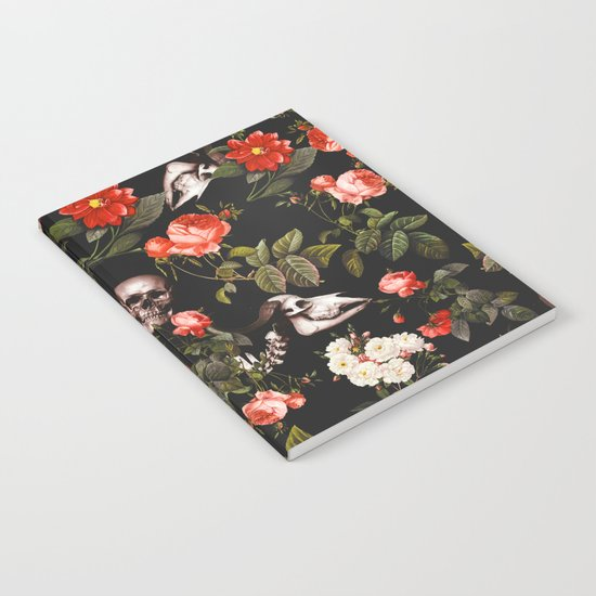 Floral and Skull Pattern Notebook
