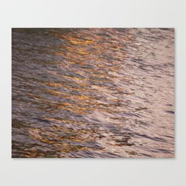 Abstract Lights on River Water in Japan 7 Canvas Print