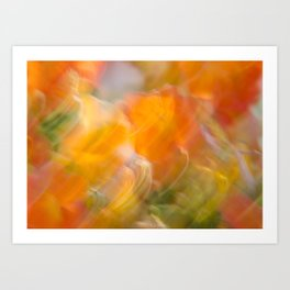 Sweeping Orange Strokes Art Print