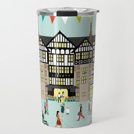 Art Print of Liberty of London Store - Daytime Travel Mug