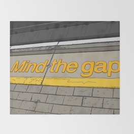 Mind the Gap in London Throw Blanket