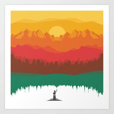 Layers Of Nature Art Print