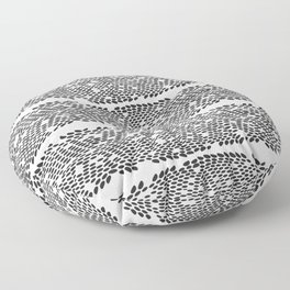 Snake skin scales texture. Seamless pattern black on white background. simple ornament Floor Pillow