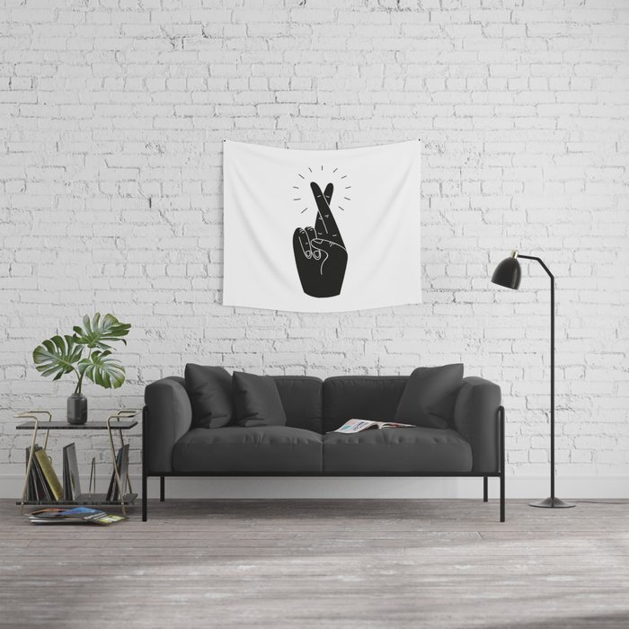Fingers Crossed Wall Tapestry
