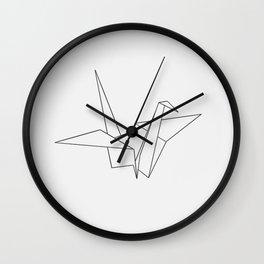 simple crane Wall Clock
