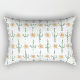 Saguaro Floral Pattern Rectangular Pillow