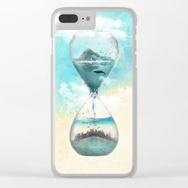 11th Hour Glass Clear iPhone Case