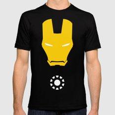 Iron Man Minimalist MEDIUM Mens Fitted Tee Black