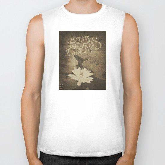 Lotus in My Dreams Biker Tank