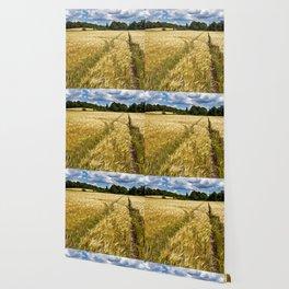 Golden wheat field poetry Wallpaper