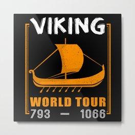 Vikings World Tour Vikings Ship Runes Metal Print