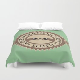 Certified Crazy Sloth Lady Duvet Cover