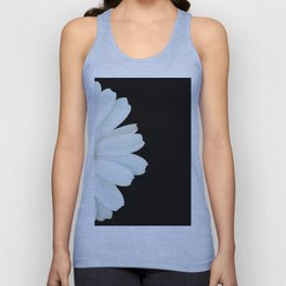 Hello Daisy - White Flower Black Background #decor #society6 #buyart Unisex Tank Top
